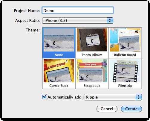 New iMovie project