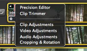 Clip menu