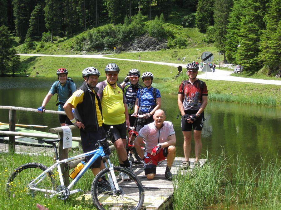 De groep bij de Zauchensee