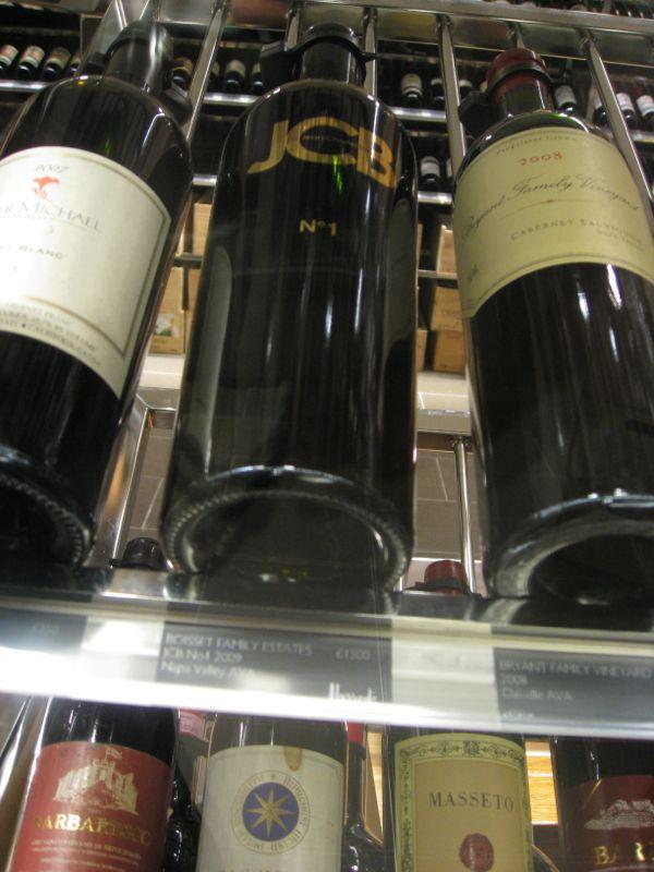 Flesje wijn in Harrods