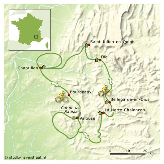 Fietsreis Drôme