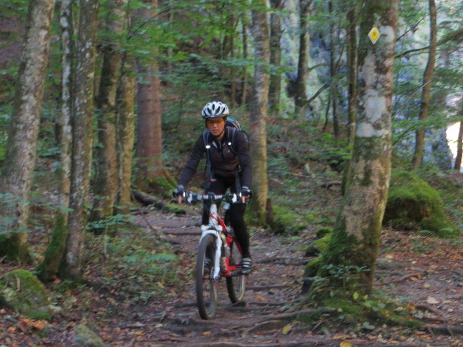 Christel op de trail