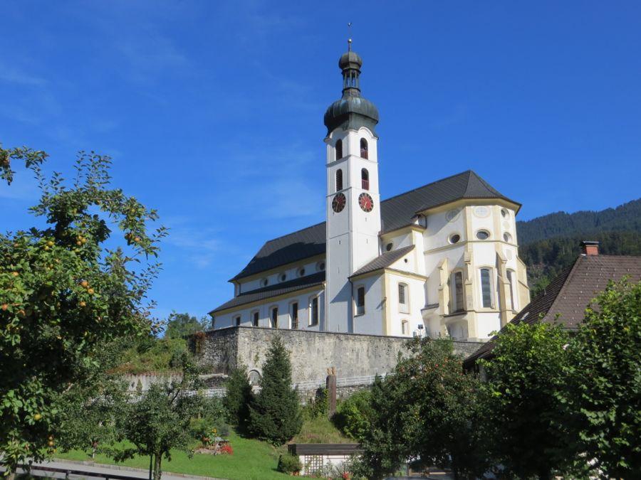 De kerk van Tschagguns