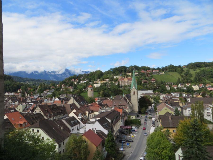 Feldkirch vanaf Schattenburg