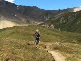 Christel in actie op een trail